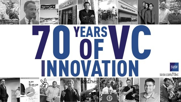 VC70YEARS OF sosv.com/70vcINNOVATION
