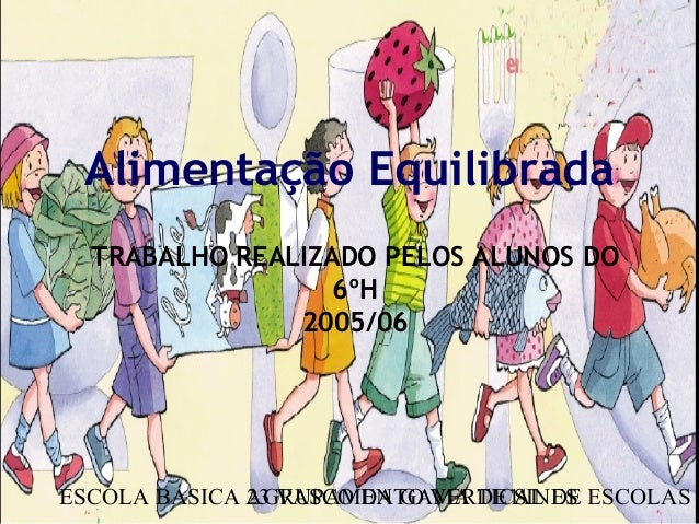 ESCOLA BÁSICA 23 VASCO DA GAMA DE SINESAGRUPAMENTO VERTICAL DE ESCOLAS D1 Alimentação Equilibrada TRABALHO REALIZADO PELOS...