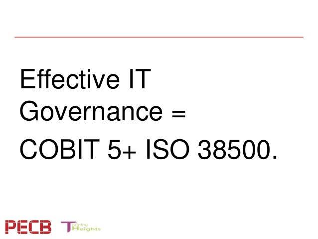 pecb webinar  aligning cobit 5 0 and iso  iec 38500