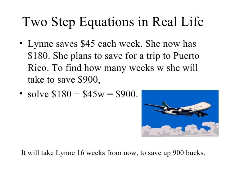 2 step equations word problems examples