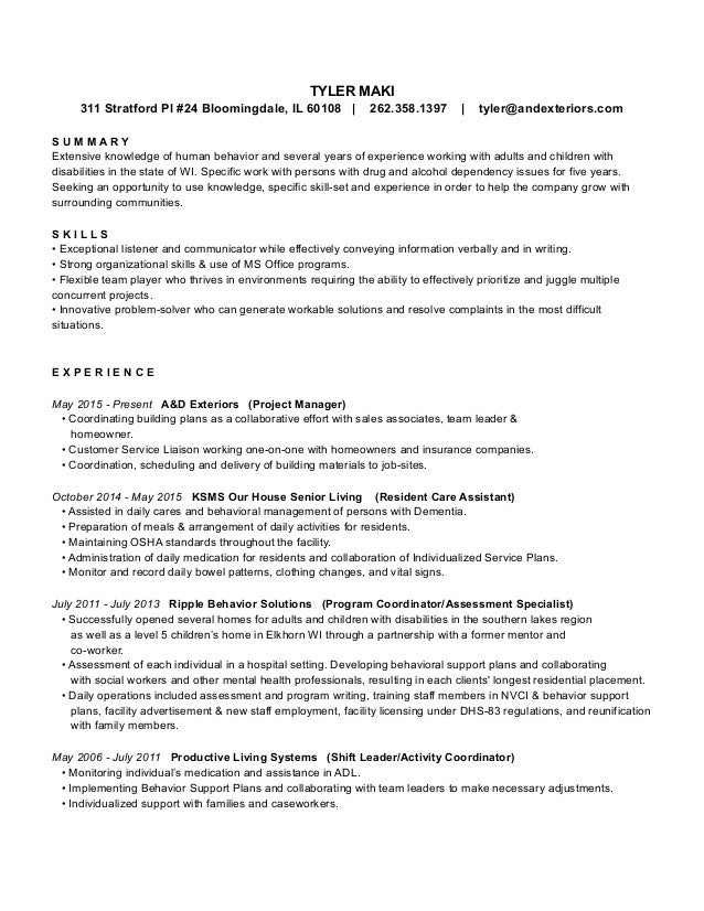 Promotion On Resume Excel New Resume Pdf Keywords On Resume with Technical Project Manager Resume Pdf New Resume Pdf Tyler Maki  Stratford Pl  Bloomingdale Il      List Of Skills For Resume Excel
