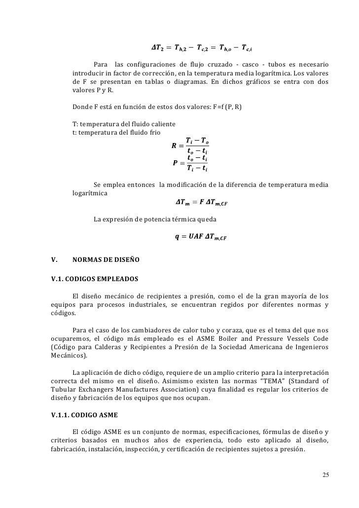 Para las configuraciones de flujo cruzado - casco - tubos es necesario      introducir in factor de corrección, en la temp...