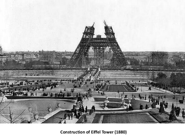 Construction of Eiffel Tower (1880)