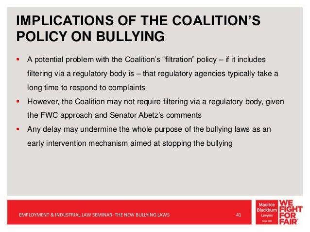 QLD EILS Seminar: The New Bullying Laws