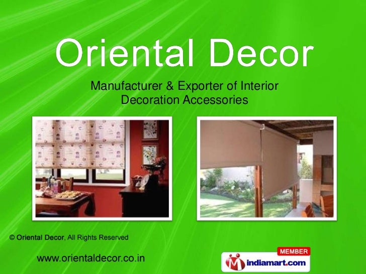 Manufacturer & Exporter of Interior    Decoration Accessories