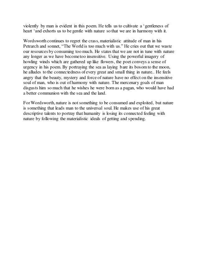 nutting by william wordsworth summary