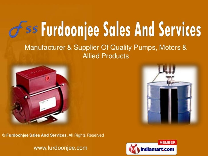 Manufacturer & Supplier Of Quality Pumps, Motors & Allied Products<br />