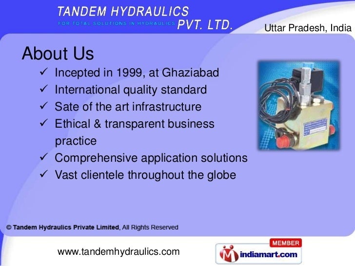 Mobile Control Valve by Tandem Hydraulics Private Limited, Ghaziabad Slide 2