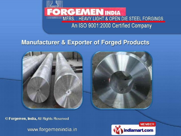 Manufacturer & Exporter of Forged Products