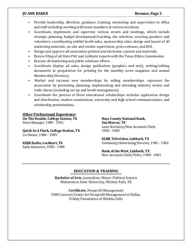 Attractive Center For Nonprofit Management Dallas Resume Festooning ...