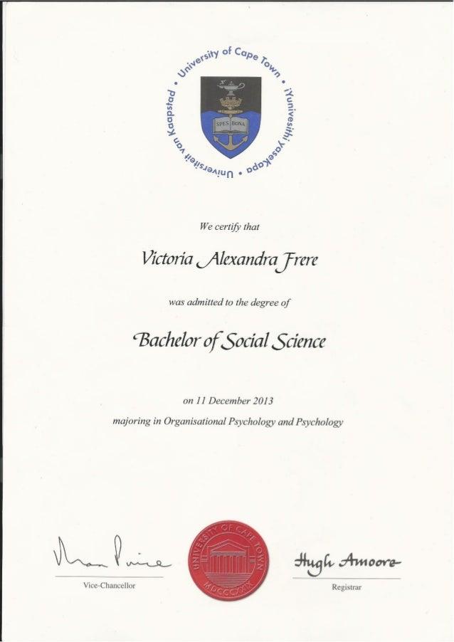 Victoria Frere - Undergraduate Certificate