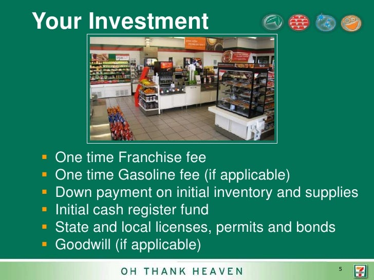 business plan for a 7-11 franchise for sale