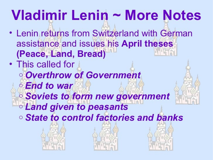 what did the april theses promise This article contains lenin's famous april theses read by him (the tasks of the proletariat in the present revolution and for confining itself to promises.