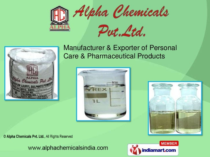 Manufacturer & Exporter of PersonalCare & Pharmaceutical Products