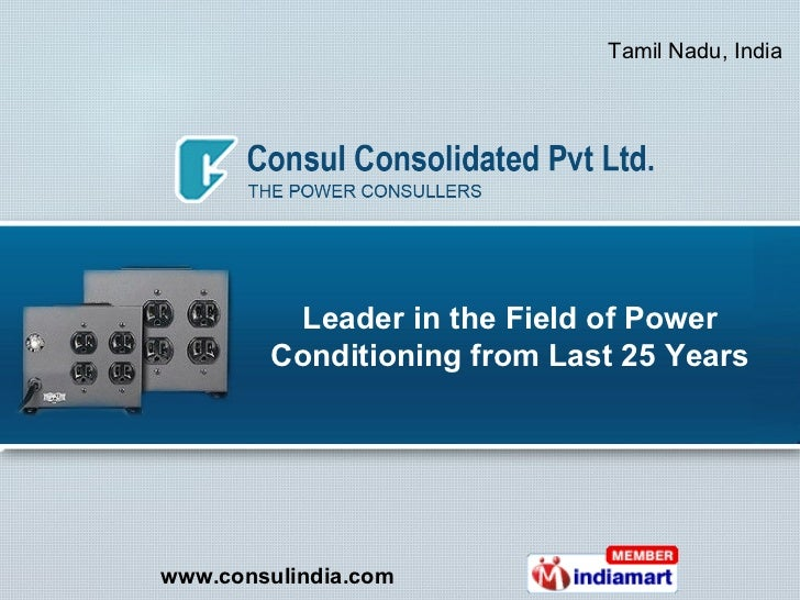 Leader in the Field of Power Conditioning from Last 25 Years