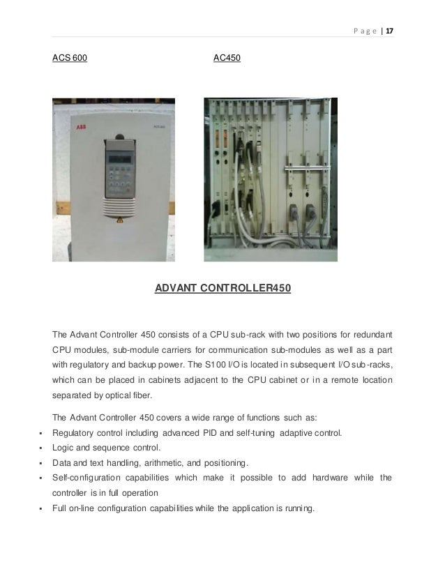 Project On Study Of Communication Problem In Abb Drive