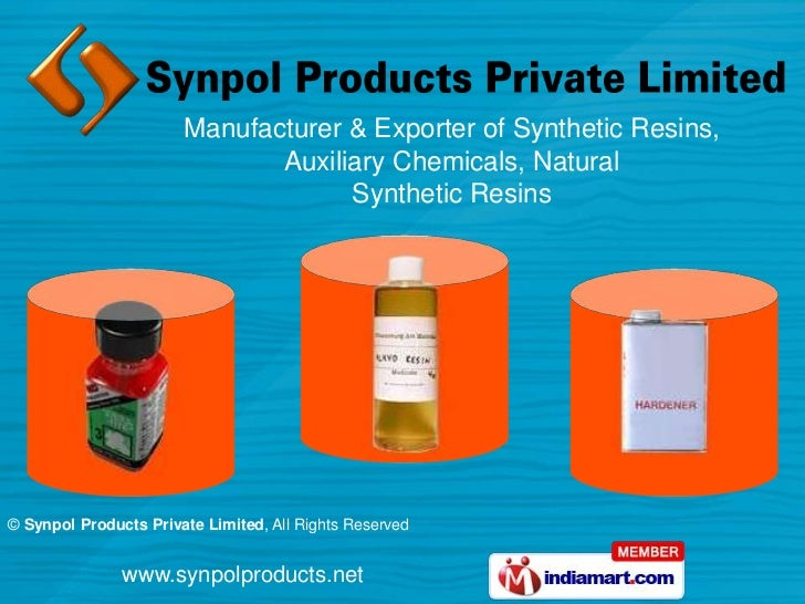 Manufacturer & Exporter of Synthetic Resins, <br />Auxiliary Chemicals, Natural <br />Synthetic Resins<br />