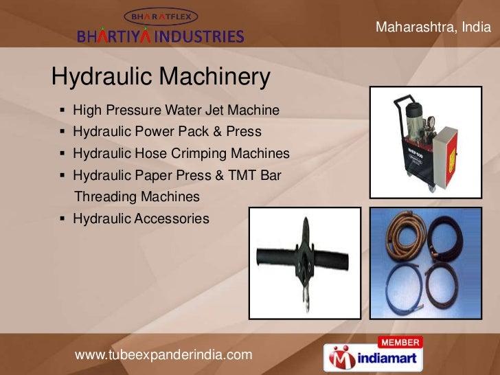 Maharashtra, IndiaHydraulic Machinery High Pressure Water Jet Machine Hydraulic Power Pack & Press Hydraulic Hose Crimp...