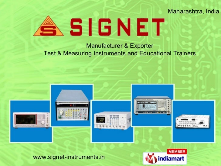 Maharashtra, India  Manufacturer & Exporter Test & Measuring Instruments and Educational Trainers