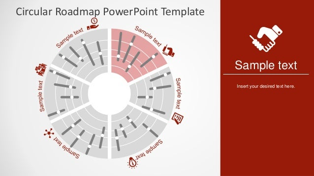 slidemodel circular roadmap powerpoint template