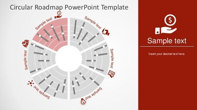 slidemodel circular roadmap powerpoint template