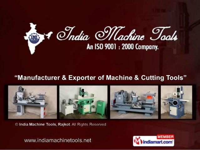 """Manufacturer & Exporter of Machine & Cutting Tools"""