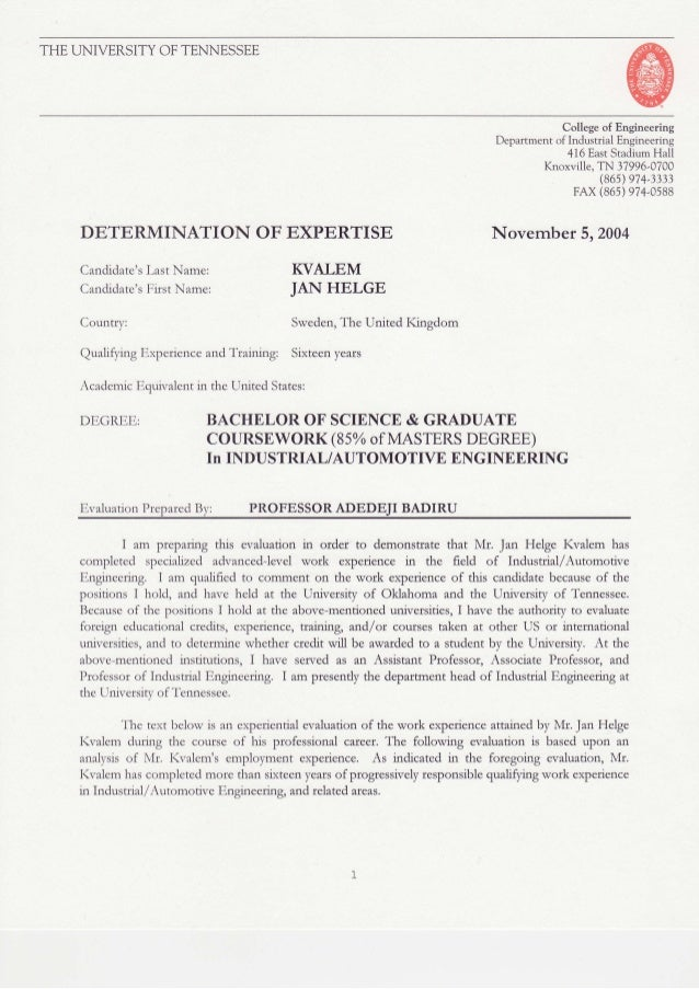 THEUNIVERSITYOFTENNESSEE College of Engineering Department of Industrial Engineering 416 EastStadiumHall Knoxville, TN 379...