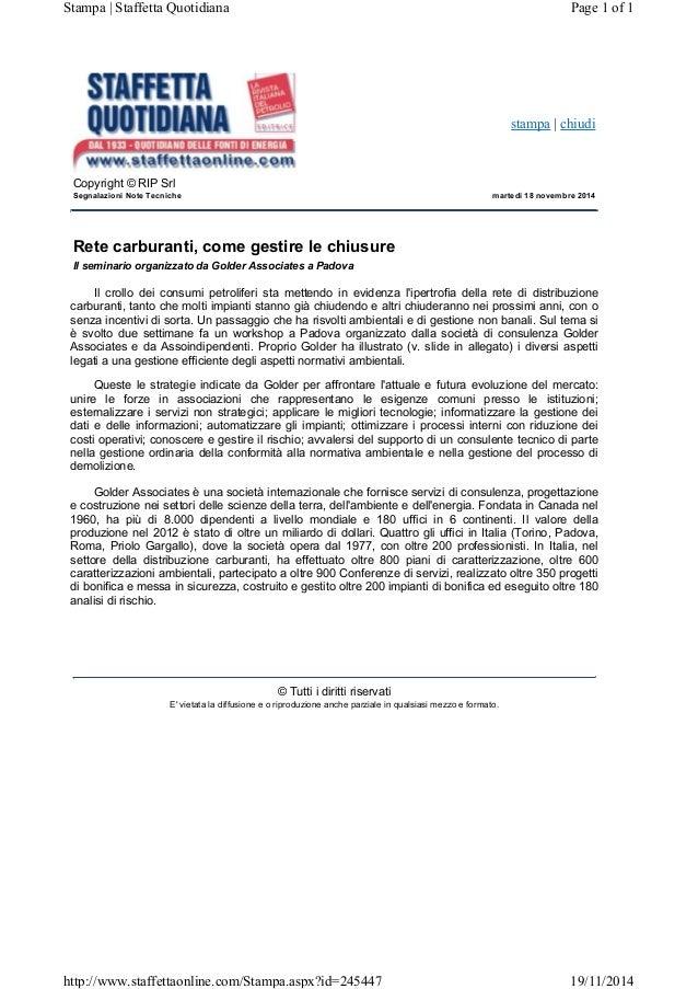 stampa | chiudi Copyright © RIP Srl Segnalazioni Note Tecniche martedì 18 novembre 2014 Rete carburanti, come gestire le c...