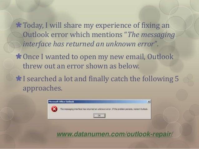 5 Solutions to Outlook Error