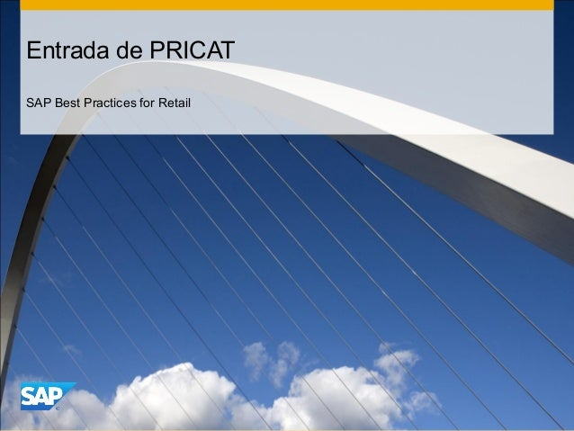 Entrada de PRICAT SAP Best Practices for Retail