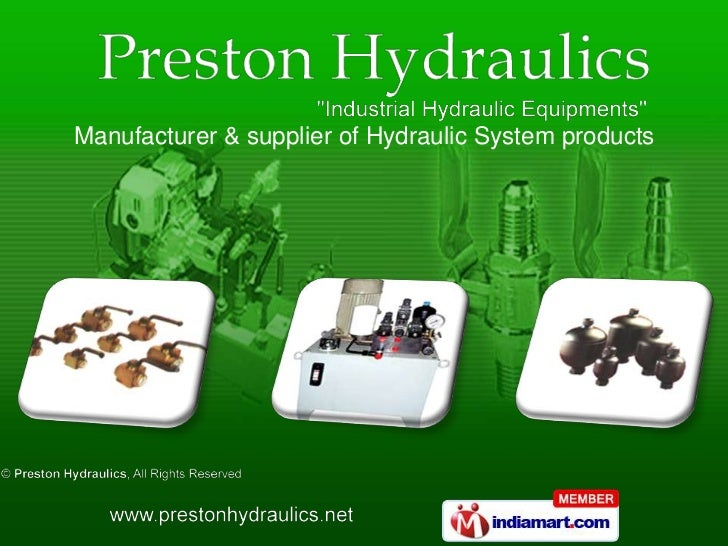 Manufacturer & supplier of Hydraulic System products