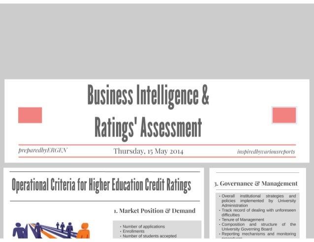 BusinessIntelligenceAndRatingsAssessment