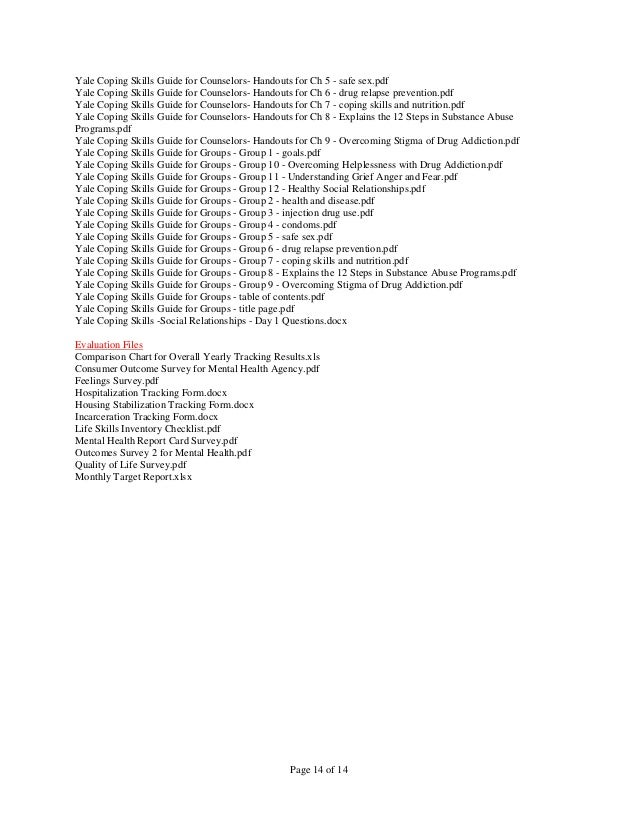 Complete List of Adult Psychotherapy Files - As of 9-9-15