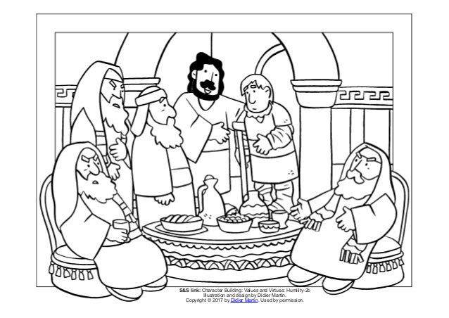 Coloring Page: Meals with Jesus: A Meal with Pharisees