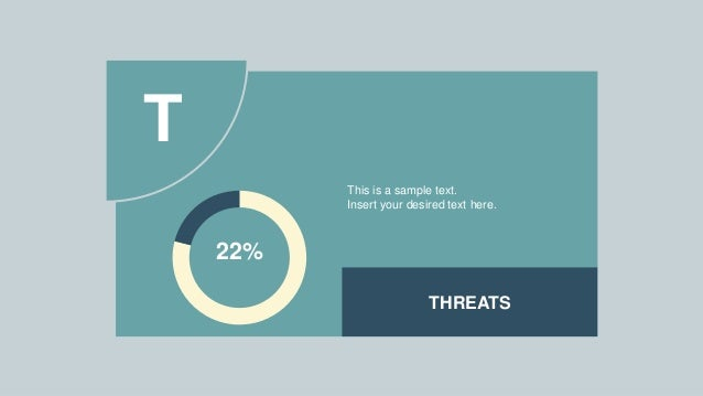 THREATS 22% This is a sample text. Insert your desired text here. T