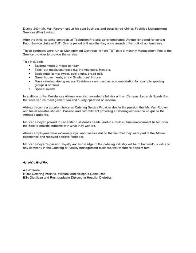 Tut reference letter catering 2 expocarfo Choice Image
