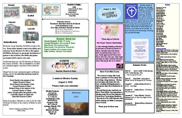 Deerfoot Church of Christ 7 19 2020 Slide 2