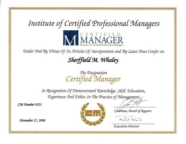 Smw Cm Certification