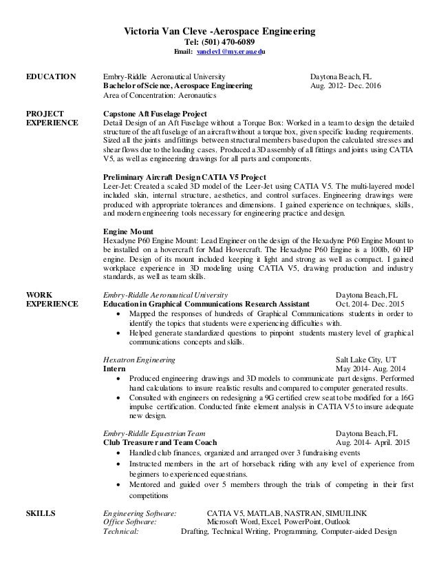 modern resume aerospace engineer