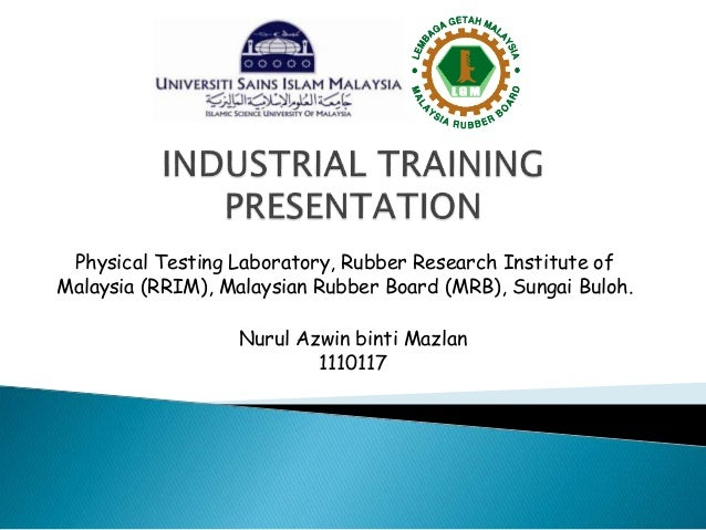 Industrial Training Presentation Aween