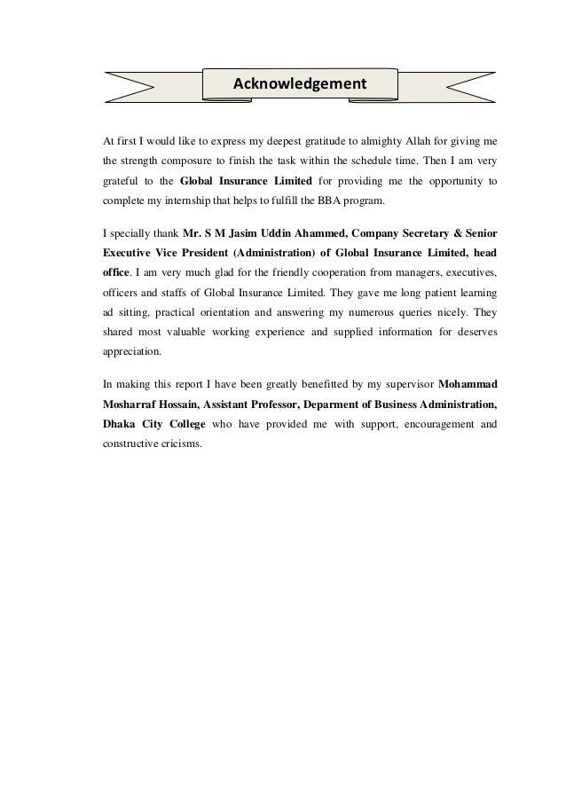 Internship report of global insurance ltd by m a muhaimin alveen bat - National express head office number ...
