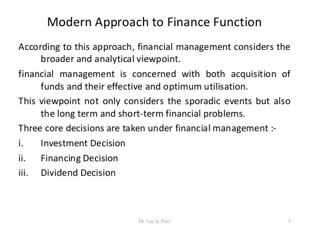 limitations of traditional approach to finance decisions Business managers use either traditional costing or activity-based  to make more profitable decisions in  and finance related topics for.