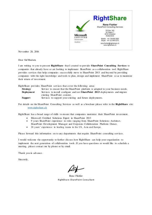 CV and Cover Letter - RightShare