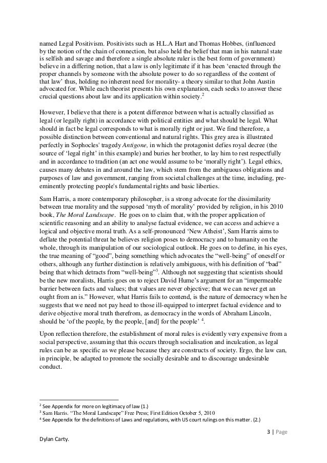 Positivists law and morality essay