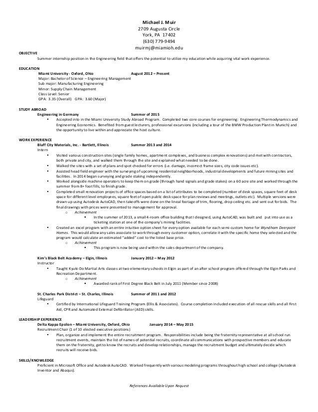 career fair 2008 resume