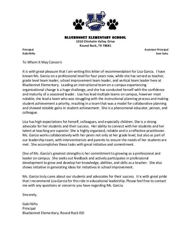 57 Recommendation Letter For Teacher From Parent From For