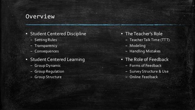 Student Centered Classroom Management