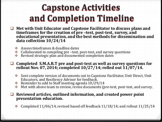 capstone project process presentation