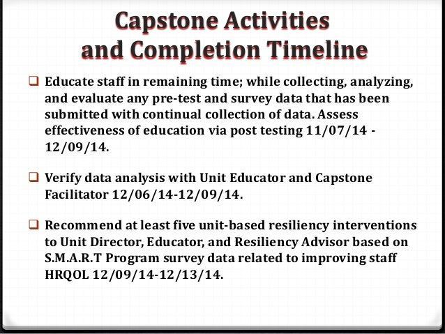 capstone guidelines Kroc school master's capstone guidelines 2 figure 1 capstone forms capstones are formulated and developed in a structured context across the two semesters of.