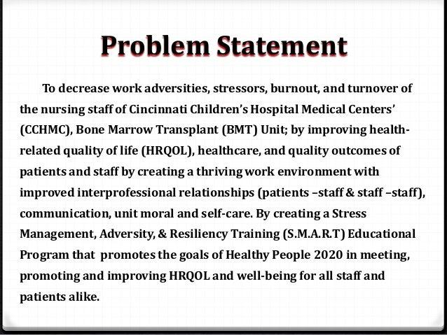 Problem statement for change management